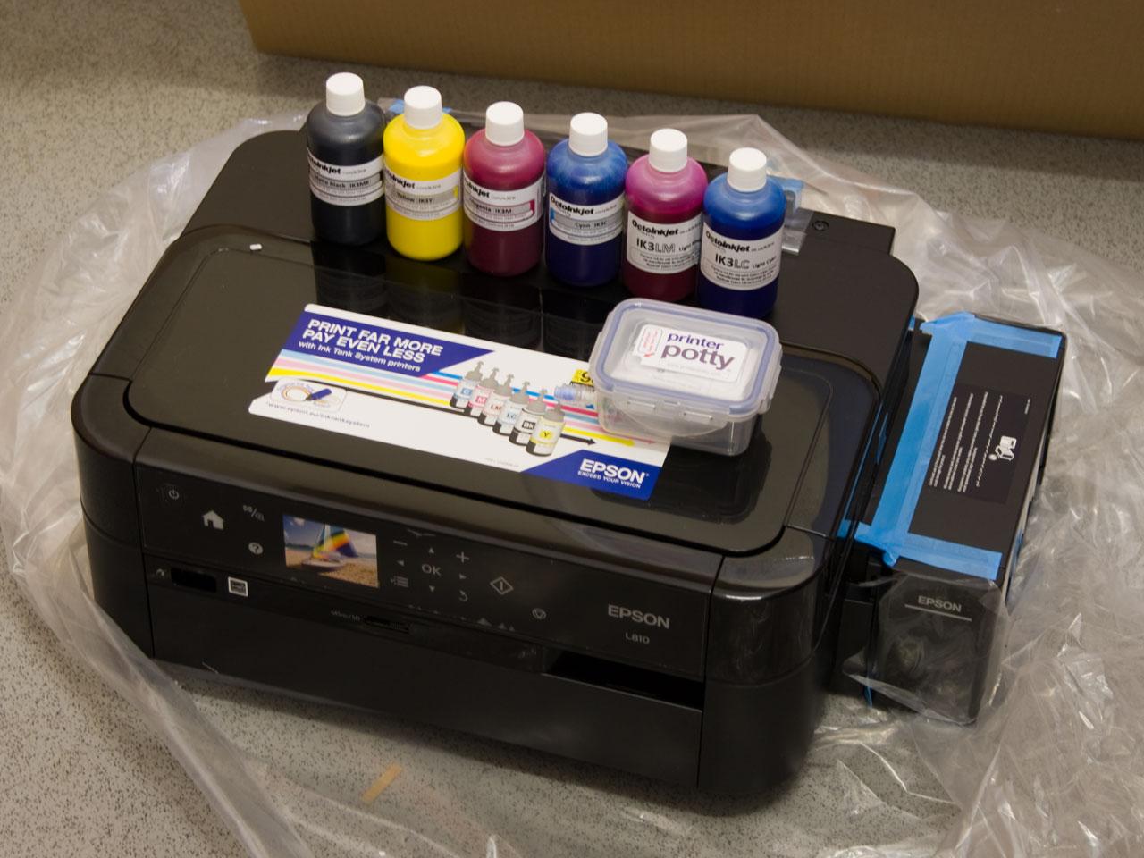 Details about Epson Ecotank L810 inc' Pigment inks + Printer Potty  [New/Unused]